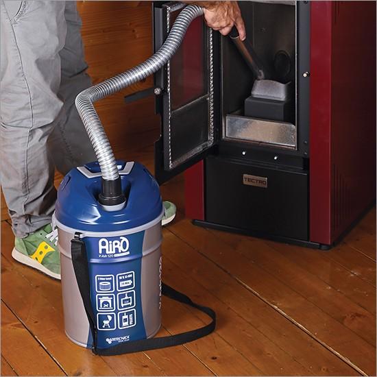 Aspiracenere Airò - V-Ash 120 cordless, con batteria litio 18V, per ceneri fredde, con doppia funzione: aspirazione e soffiatore