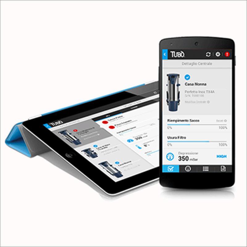 Accessorio per gestire la tua centrale aspirante a distanza. (http://www.tubolink.com/)