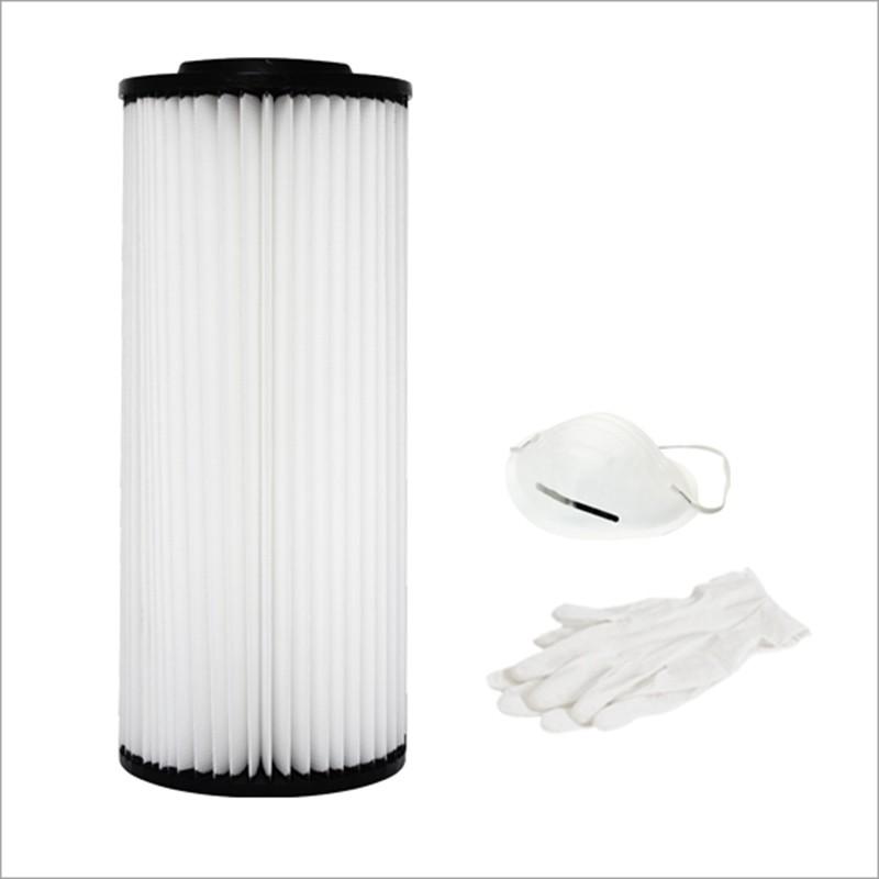 Cartuccia filtro in poliestere lavabile per TS1, TS85, S80, P80, PX80, PX85, C80, S80, SM20FD, SX20FD, SM30TD, SX30TD