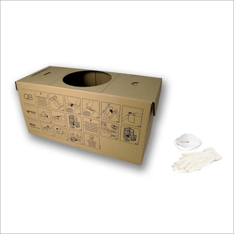 Contenitore polvere in cartone ecologico per centrale QB Q200 (conf. pz 5)