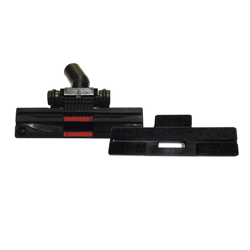 Spazzola doppio uso Ø 32 per pavimento in legno con feltro e per pavimenti universale, cm. 25