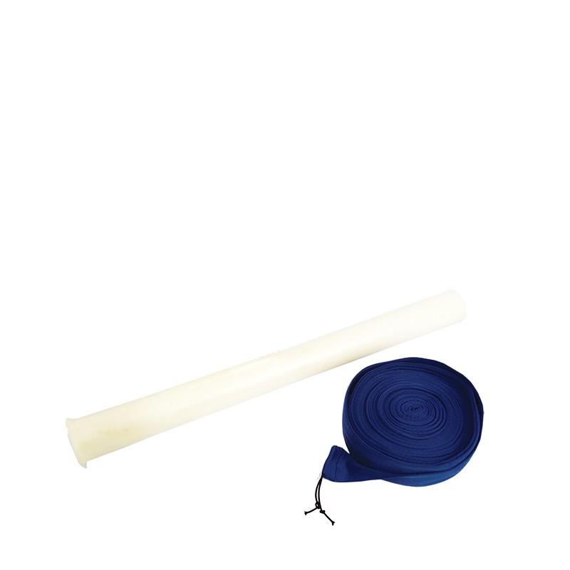 Set completo di rivestimento a protezione tubo flessibile PRATICO Ø32 da 12ml, completo di accessorio applica calza (Ric.)